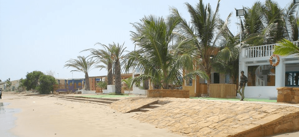 french beach karachi huts
