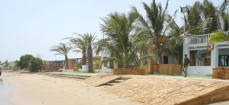 french beach karachi huts
